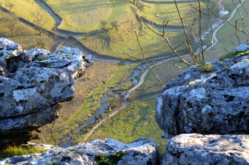 Looking down from Malham Cove