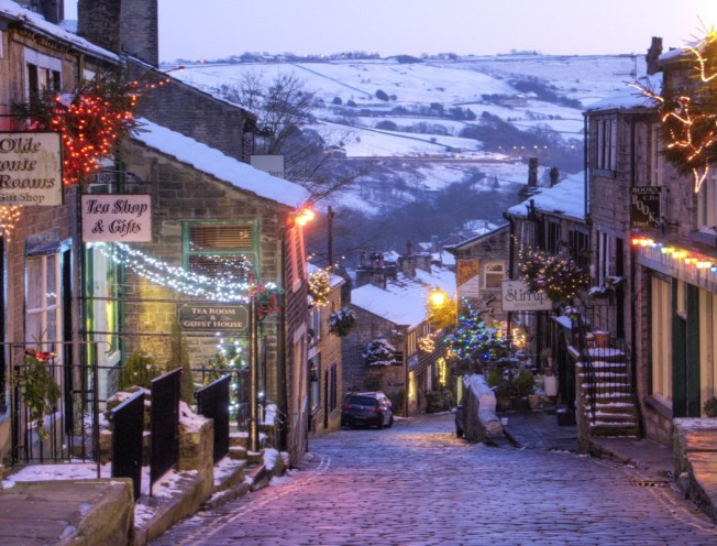 Haworth, Yorkshire, at Christmas time