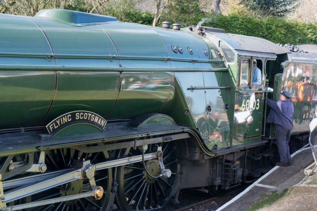 Flying Scotsman at Oxenhope Station